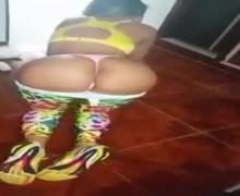 Yisela Avendaño bailando despues del gym